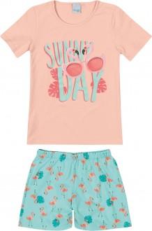 Imagem - (1000083341) Pijama Feminino Juvenil de Malha - Malwee Kids ref: 1000083341