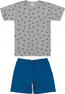 Imagem - (1000083388) Pijama Masculino Infantil de Malha - Malwee Kids ref: 1000083388