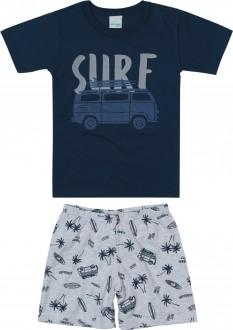 Imagem - (1000083394) Pijama Masculino Juvenil de Malha - Malwee Kids ref: 1000083394