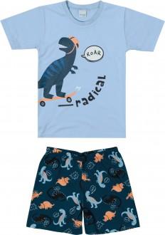 Imagem - (1000083400) Pijama Masculino Infantil de Malha - Malwee Kids ref: 1000083400