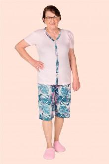 Imagem - (1001661) Pijama Adulto Feminino Aberto e Pescador - BELA NOTTE ref: 1001661
