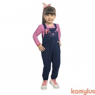 Imagem - (10050) Jardineira Cotton Com Blusa Kamylus ref: 10050
