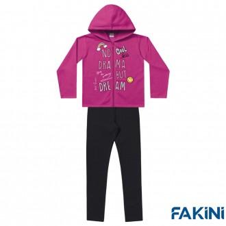 Imagem - (1112) Conjunto Moletom e Legging Feminino Fakini - 1829115_PINK-MESCLA