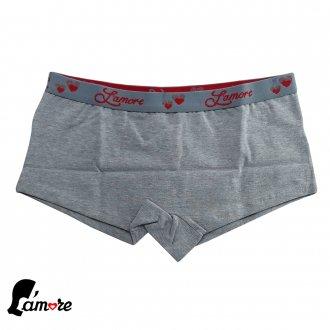 Imagem - (105) Calcinha shortinho | Cueca Feminina Lamore - 47190_MESCLA-MESCLA
