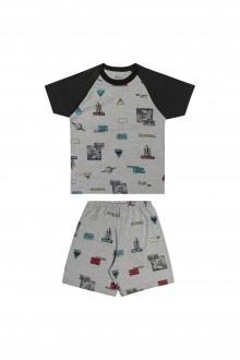 Imagem - (12030) Pijama Masculino de Malha para Bebê - Elian ref: 12030