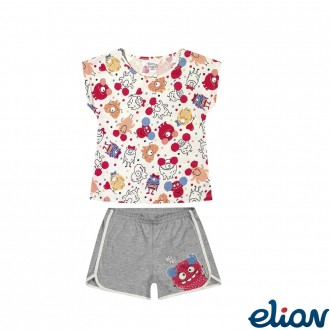 Imagem - (13014) Conjunto Pijama Feminino Brilha No Escuro Elian ref: 13014