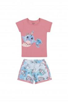 Imagem - (13029) Pijama Feminino Meia Malha Para Bebê - ELIAN ref: 13029