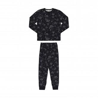 Imagem - (16058) Pijama de Malha Manga Longa Masculino Infantil - Alakazoo! ref: 16058