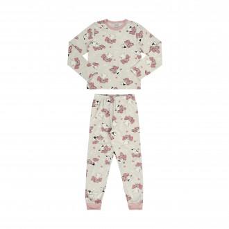 Imagem - (16065) Pijama de Malha Manga Longa Infantil Feminino - Alakazoo! ref: 16065