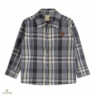 Imagem - (172363) Camisa em xadrez- COLORITTÁ - 478451_7193-CINZA