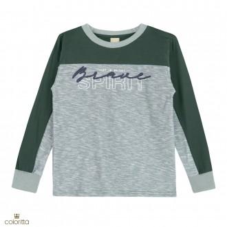 Imagem - (172385) Camiseta meia malha flame - COLORITTÁ - 478453_5207-VERDE