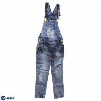 Imagem - (2013105) Jardineira jeans longa -BURILE ref: 2013105