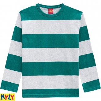 Imagem - (205.939) Camiseta manga longa meia malha - KYLY - 1031847_70113-VERDE BOSQUE