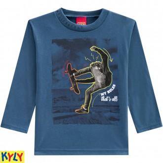 Imagem - (207.191) Camiseta manga longa meia malha - KYLY ref: 207.191