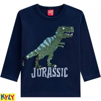 Imagem - (207.193) Camiseta meia malha com estampa reversível - KYLY ref: 207.193