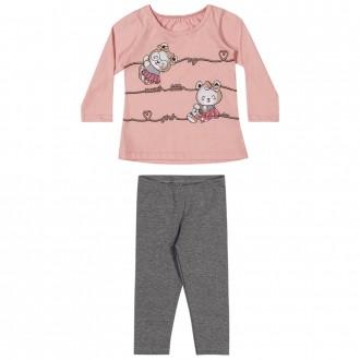 Imagem - (211141) Conjunto Malha C/ Legging Feminino Infantil Elian ref: 211141