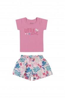 Imagem - (211151) Conjunto Feminino Infantil de Cotton - Elian ref: 211151