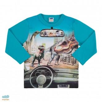 Imagem - (22516) Blusa manga longa dinossauros masculina infantil - Marlan - 494121_AZ0098-DIGITAL