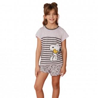 Imagem - (2382I) Pijama Feminino Infantil Snoopy - DANKA ref: 2382I