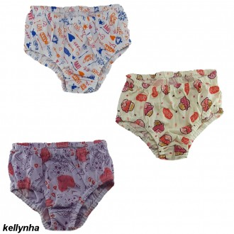 Imagem - (023) Kit com 3 calcinhas Infantil Kellynha ref: 023