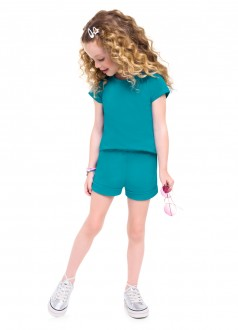 Imagem - (24795) Shorts Feminino Infantil de Moletinho - Brandili ref: 24795