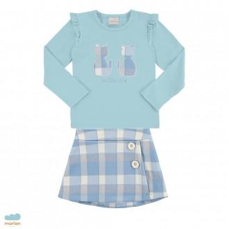 Imagem - (27056) Conjunto de blusa e saia feminino infantil - Milli e Nina ref: 27056
