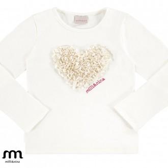 Imagem - (27058) Blusa manga longa em cotton feminina infantil -MARLAN ref: 27058