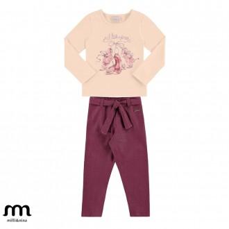 Imagem - (27068) Conjunto Blusa E Calça Feminino Marlan ref: 27068