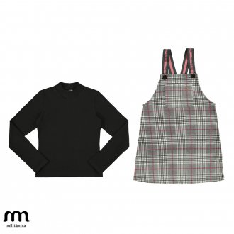 Imagem - (29373) Conjunto blusa e salopete infantil feminino - Milli e Nina. ref: 29373