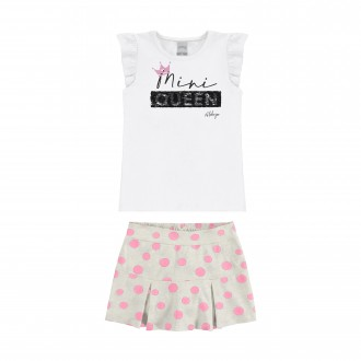 Imagem - (34985) Conjunto Feminino Infantil Shorts Saia - Alakazoo! ref: 34985