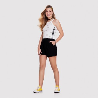 Imagem - (37915) Short Malha Crepe Feminino Juvenil Lunender ref: 37915
