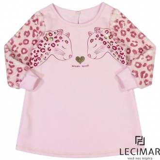 Imagem - (401479) Vestido Em Moletom Feminino Para Criança Lecimar ref: 401479
