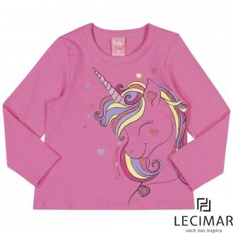 Imagem - (401523) Blusa Em Cotton Stretch Feminino Para Criança Lecimar ref: 401523