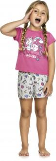 Imagem - (402010) Pijama Feminino Infatil Em Meia Malha - Lecimar Kids ref: 402010