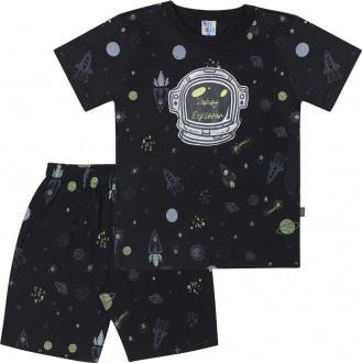 Imagem - (46553) Pijama Masculino Meia Malha Para Bebê - Pulla Bulla ref: 46553
