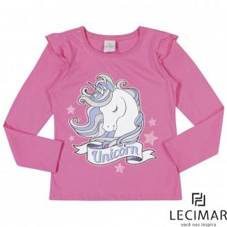 Imagem - (501162) Blusa Meia Malha Feminino Para Criança Lecimar ref: 501162