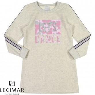 Imagem - (501174) Vestido Em Moletom Felpado Feminino Para Criança Lecimar ref: 501174