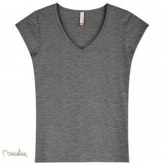 Imagem - (52053) Blusa Basica Cotton Decote V Feminino Adulto - Elian ref: 52053