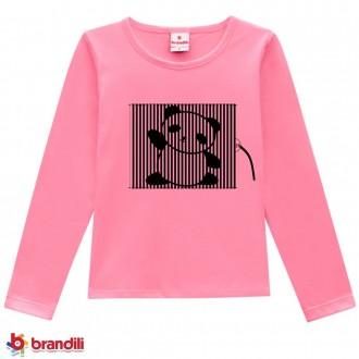 Imagem - (53555) Blusa Meia Malha Feminino Infantil Brandili ref: 53555