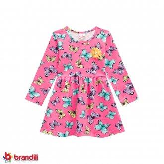 Imagem - (53757) Vestido Cotton Feminino Infantil Brandili ref: 53757