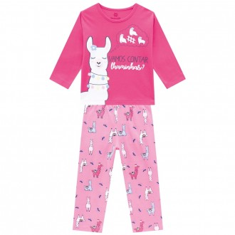 Imagem - (54012) Conjunto Pijama Malha Feminino Infantil Brandili ref: 54012
