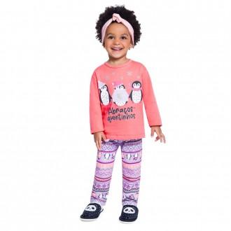 Imagem - (54015) Conjunto Pijama Moletom Feminino Brandili ref: 54015