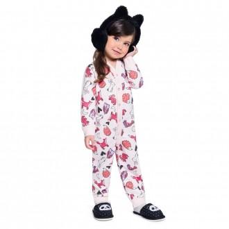 Imagem - (54016) Pijama Macacão Moletinho Feminino Infantil Brandili ref: 54016