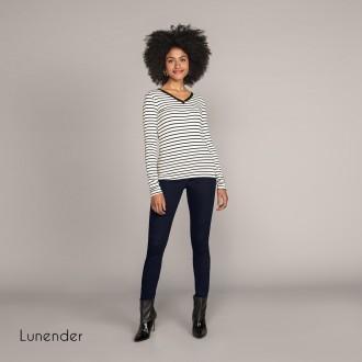 Imagem - (67651) Blusa de Malha Listrada Lunender ref: 67651