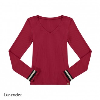 Imagem - (67665) Blusa de Malha Canelada Lunender ref: 67665