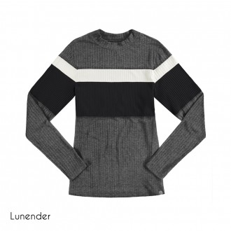 Imagem - (67718) Blusa de Malha Canelada Lunender ref: 67718