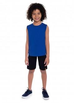 Imagem - (80095) Bermuda Masculina Infantil Em Moletinho - Brandili; ref: 80095