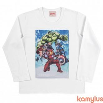 Imagem - (89546) Camiseta Malha Vingadores Masculino Kamylus - 205345_SORTIDO-SORTIDO