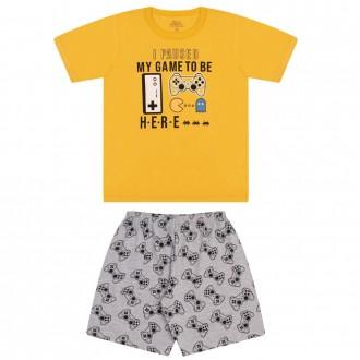 Imagem - (9126) Pijama Masculino Juvenil de Malha - Bicho Bagunça ref: 9126