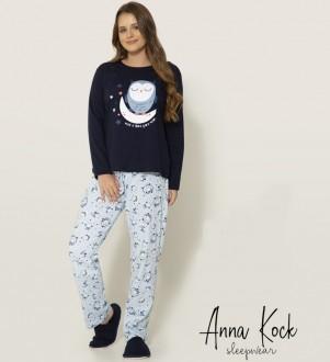 Imagem - Pijama Feminino Manga Longa Anna Kock ref: AK1403